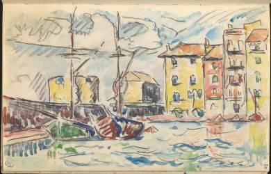 Carnet : Port d'une ville de la côte Méditerranéenne (Signac Paul) - Muzeo.com