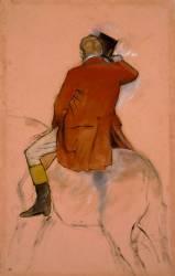 Cavalier en habit rouge (Degas Edgar) - Muzeo.com