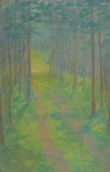 Chemin dans une forêt (Garas François) - Muzeo.com