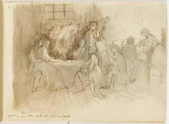 Concert en appartement (Degas Edgar) - Muzeo.com