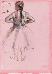 Danseuse, vue de dos, les mains sur les hanches (Degas Edgar) - Muzeo.com