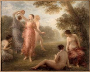 Danseuses; la ronde des nymphes (Fantin-Latour Henri) - Muzeo.com