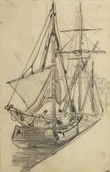 Deux barques de pêche (Monet Claude) - Muzeo.com