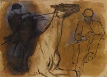 Deux études de cavalier (Degas Edgar) - Muzeo.com