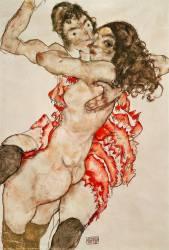 Two Women Embracing (Egon Schiele) - Muzeo.com