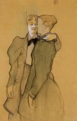 Deux femmes valsant (Toulouse-Lautrec Henri de) - Muzeo.com