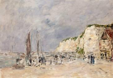 Dieppe, les falaises du Pollet (Boudin Louis-Eugène) - Muzeo.com