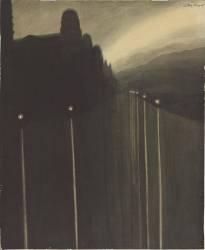 Sea Wall at night (Spilliaert Léon) - Muzeo.com