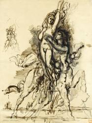 Enlèvement de Déjanire (Moreau Gustave) - Muzeo.com