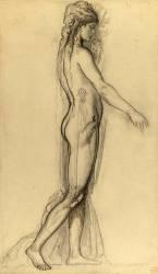 Etude d'après le modèle pour Salomé (Moreau Gustave) - Muzeo.com