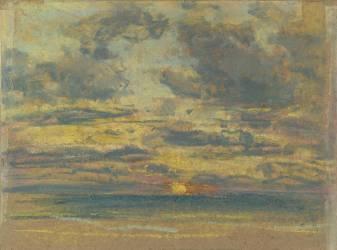 Etude de ciel au soleil couchant (Boudin Louis-Eugène) - Muzeo.com