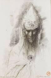 Etude pour Hérode dans Salomé dansant devant Hérode (Moreau Gustave) - Muzeo.com