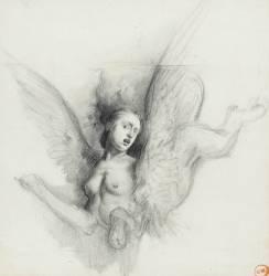 Etude pour le Sphinx deviné (Moreau Gustave) - Muzeo.com