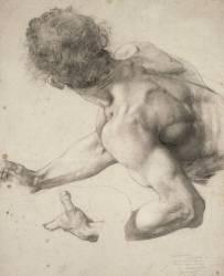 Etude pour le Supplice d'une Vestale : le licteur qui tient la vestale par le bras gauche (Baudry Paul Jacques Aimé) - Muzeo.com
