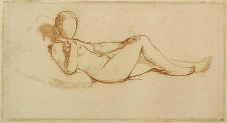 Etude pour l'Olympia : femme couchée, visage non dessiné (Manet Edouard) - Muzeo.com