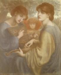 Study for 'The Bower Meadow' (Rossetti Dante Gabriel) - Muzeo.com