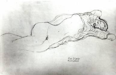 Reclining Woman (Klimt Gustav) - Muzeo.com