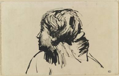 Femme au chignon, tournée vers la gauche (Bourdelle Antoine (dit),...) - Muzeo.com