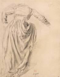 Femme de dos montant dans un char, étude pour Sémiramis (Degas Edgar) - Muzeo.com