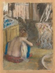 Femme nue, accroupie, de dos (Degas Edgar) - Muzeo.com