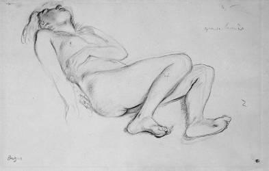 Femme nue, allongée sur le dos (Degas Edgar) - Muzeo.com