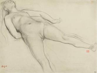 Femme nue, couchée sur le dos (Degas Edgar) - Muzeo.com
