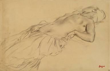 Femme nue, étendue sur le dos (Degas Edgar) - Muzeo.com