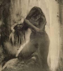 Femme, nue, se coiffant (Degas Edgar) - Muzeo.com