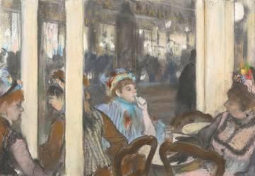 Femmes à la terrasse d'un café (Degas Edgar) - Muzeo.com
