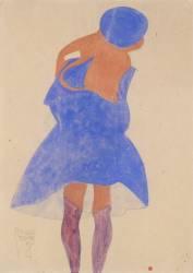Standing Girl, Back View (Schiele Egon) - Muzeo.com