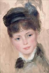Jeune femme au chapeau noir (Renoir Auguste) - Muzeo.com