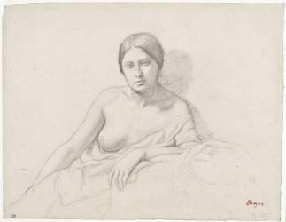 Jeune femme, demi nue, accoudée (Degas Edgar) - Muzeo.com