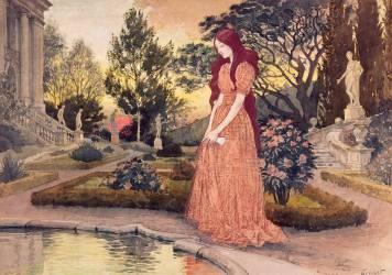 Jeune fille dans un jardin (Grasset Eugène) - Muzeo.com