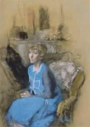 La dame en bleu (Vuillard Edouard) - Muzeo.com