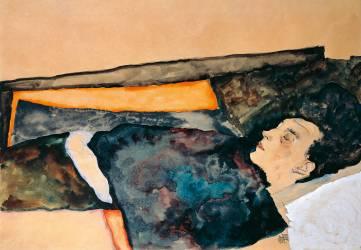 Artist's mother sleeping (Egon Schiele) - Muzeo.com