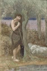 Le berger ou L'orage ou Pâtre gardant ses moutons (Puvis de Chavannes Pierre) - Muzeo.com