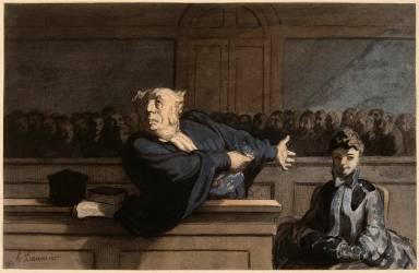 Le Défenseur (Daumier Honoré) - Muzeo.com