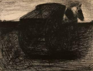 Le tombereau ou le cheval au tombereau (Seurat Georges) - Muzeo.com