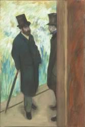 Ludovic Halévy et Albert Boulanger-Cavé dans les coulisses de l'Opéra (Degas Edgar) - Muzeo.com