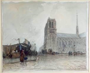 Notre Dame vue du Pont au Double (Boggs Frank Myers) - Muzeo.com