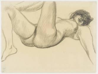 Nu féminin allongé sur le dos (Steinlen Théophile Alexandre) - Muzeo.com
