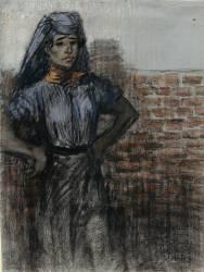 Ouvrière, les mains sur les hanches (Steinlen Théophile Alexandre) - Muzeo.com