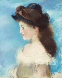 Portrait de mademoiselle Hecht, de profil (Manet Edouard) - Muzeo.com
