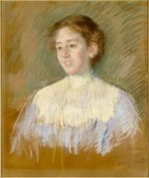 Portrait de mademoiselle Mellon, en buste, de face (Mary Cassatt) - Muzeo.com