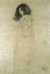 Portrait of a Young Woman (Gustav Klimt) - Muzeo.com