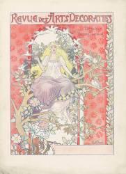 Revue des Arts Décoratifs : page de couverture de la revue, femme assise (Causé Emile) - Muzeo.com