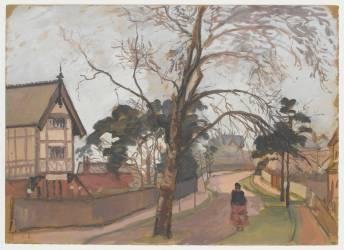 Route des environs de Londres avec chalet à gauche (Pissarro Camille) - Muzeo.com