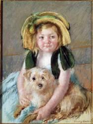 Sara avec son chien. (Mary Cassatt) - Muzeo.com