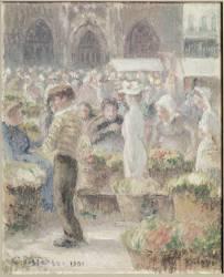 Scène de marché à Dieppe (Pissarro Camille) - Muzeo.com