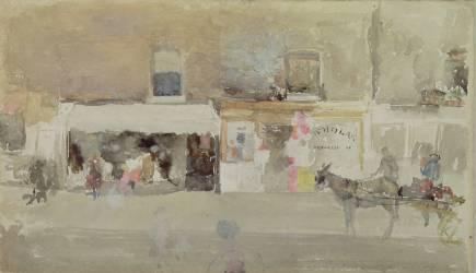 Street Scene in Chelsea (James Abbott McNeil Whistler) - Muzeo.com